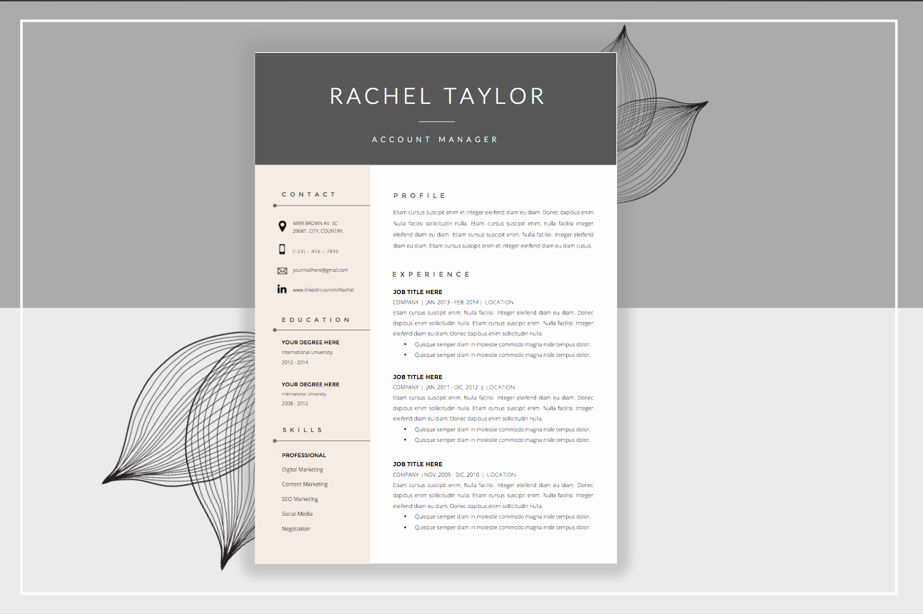 Creative Cover Letter Template Inspirational Resume Template & Cover Letter Resume Templates On