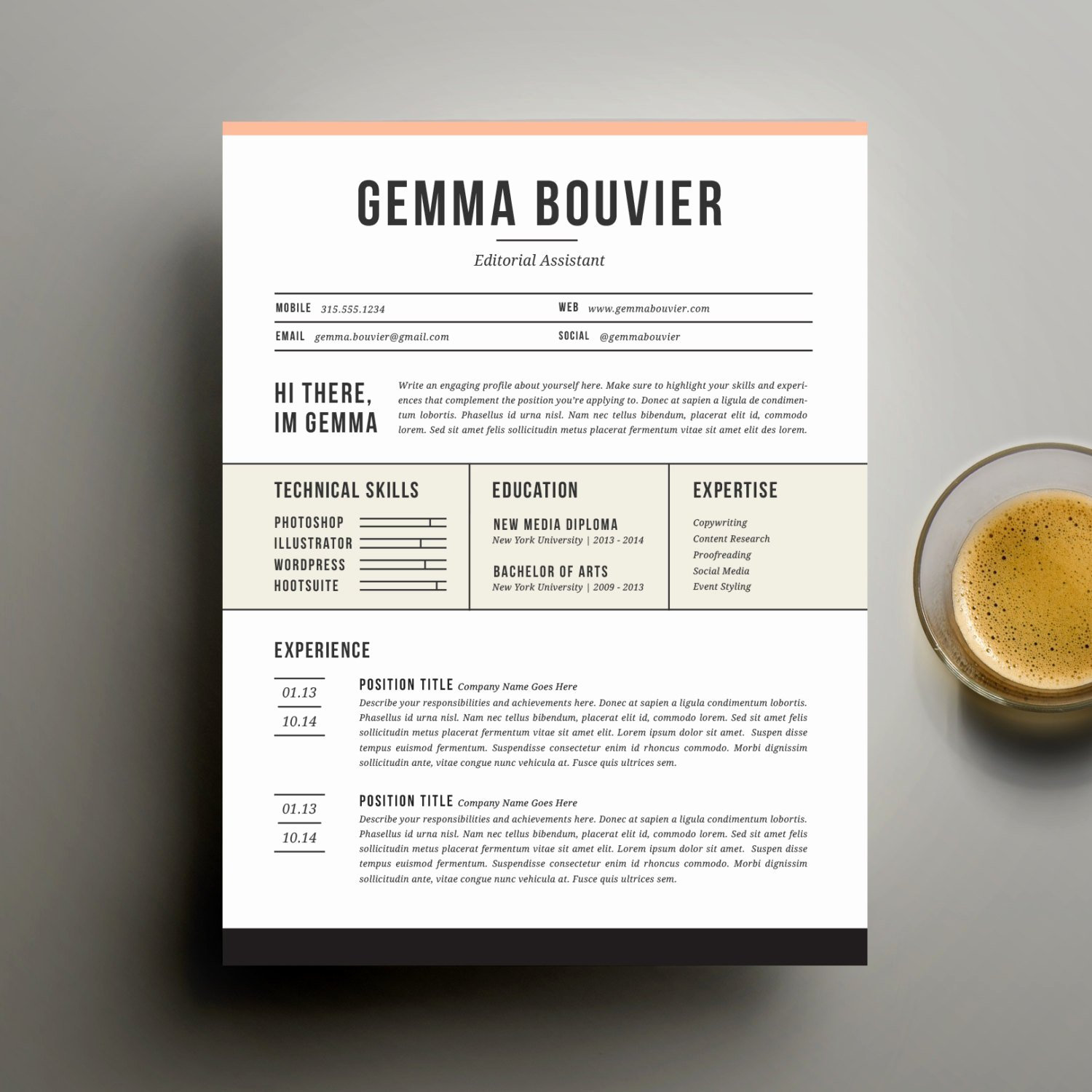 Creative Cover Letter Template Luxury Creative Resume Template and Cover Letter Template for Word