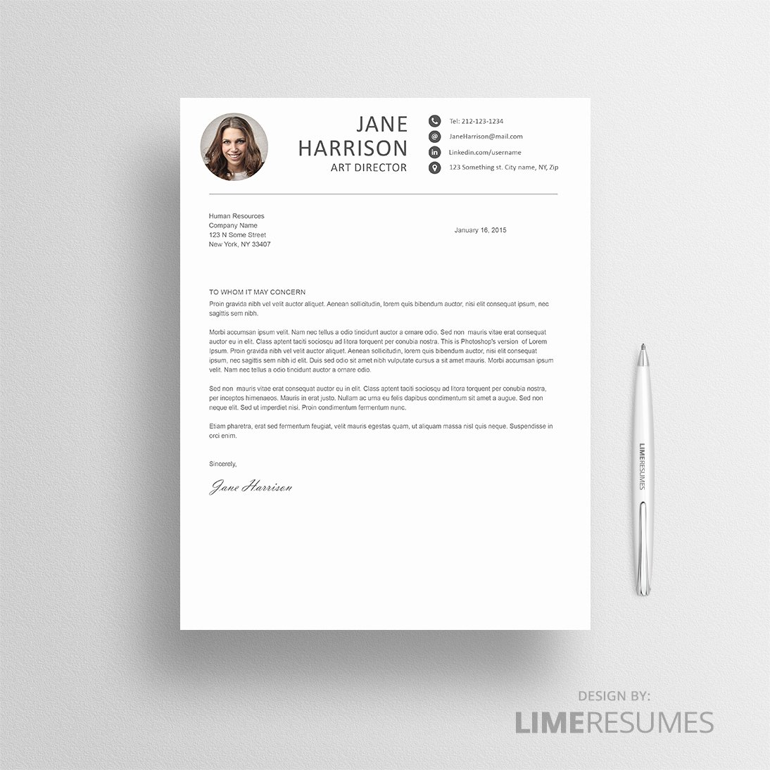 Creative Cover Letter Template New Creative Resume Template for Creatives Limeresumes