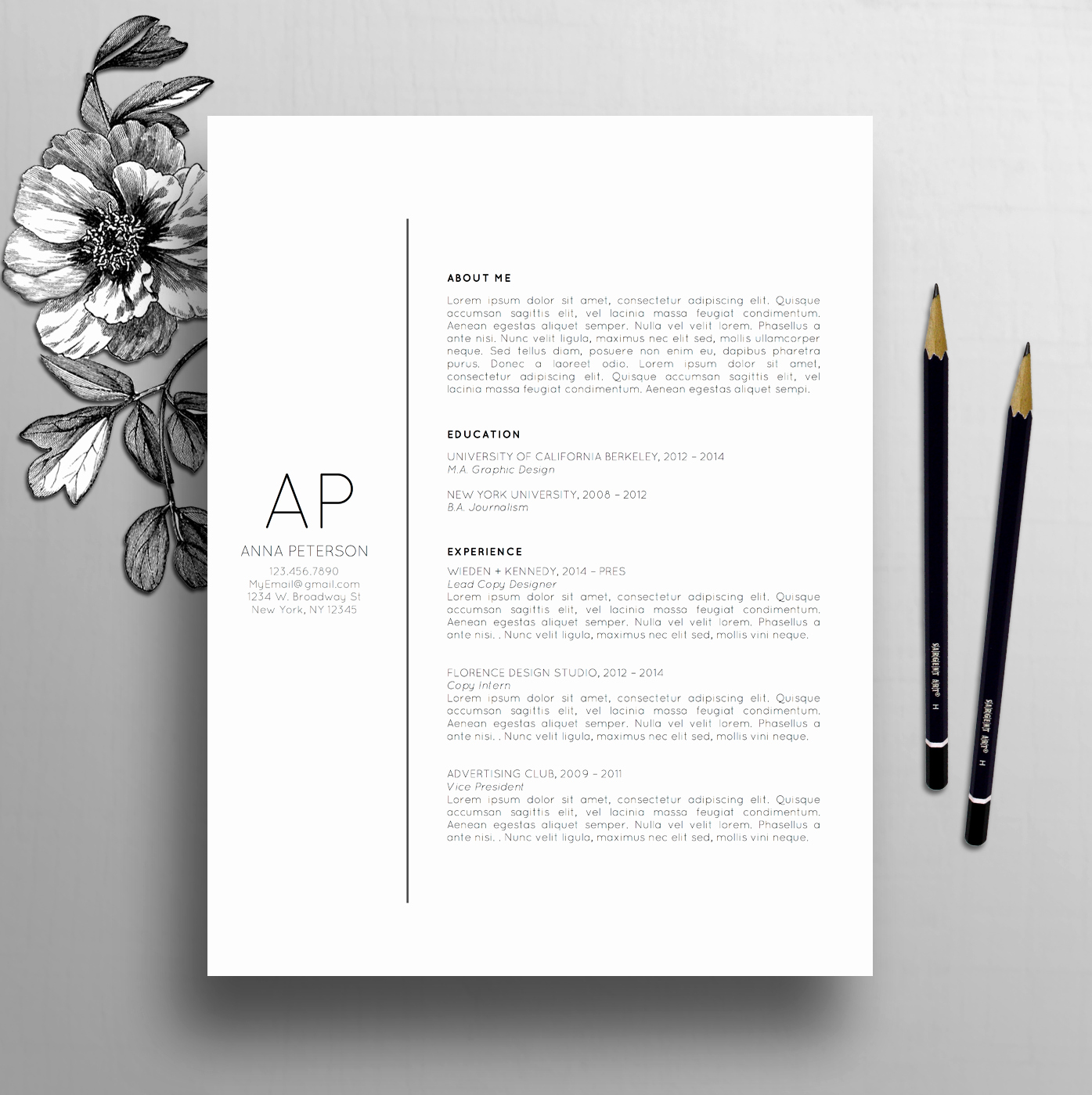 Creative Cover Letter Template New Professional Resume Template Cover Letter Template