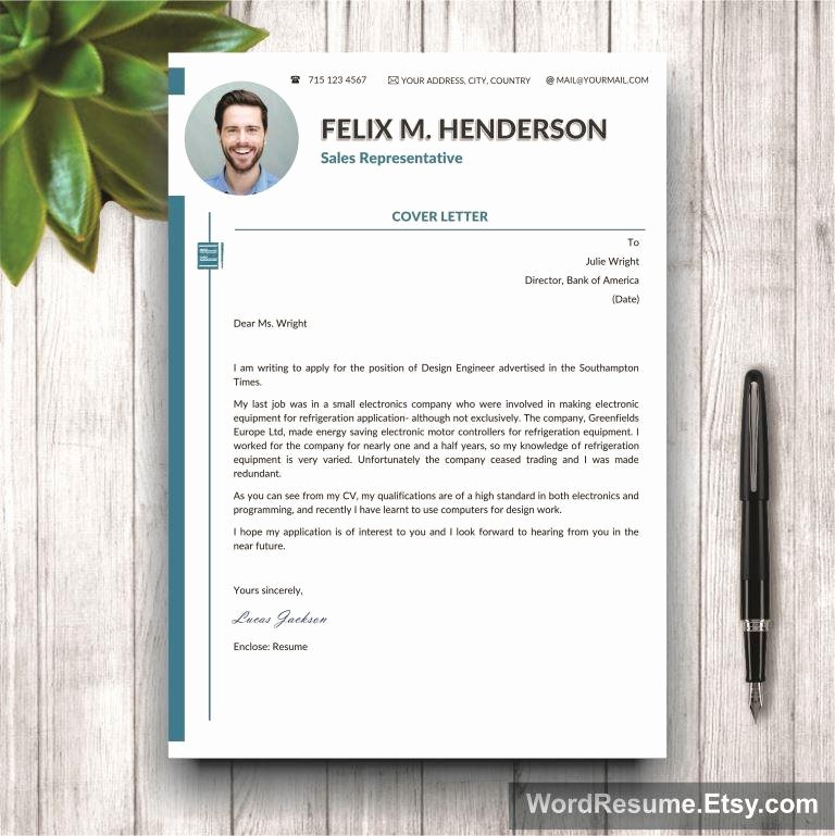 "Creative Cover Letter Template Unique Professional Curriculum Vitae Design ""felix M Henderson"