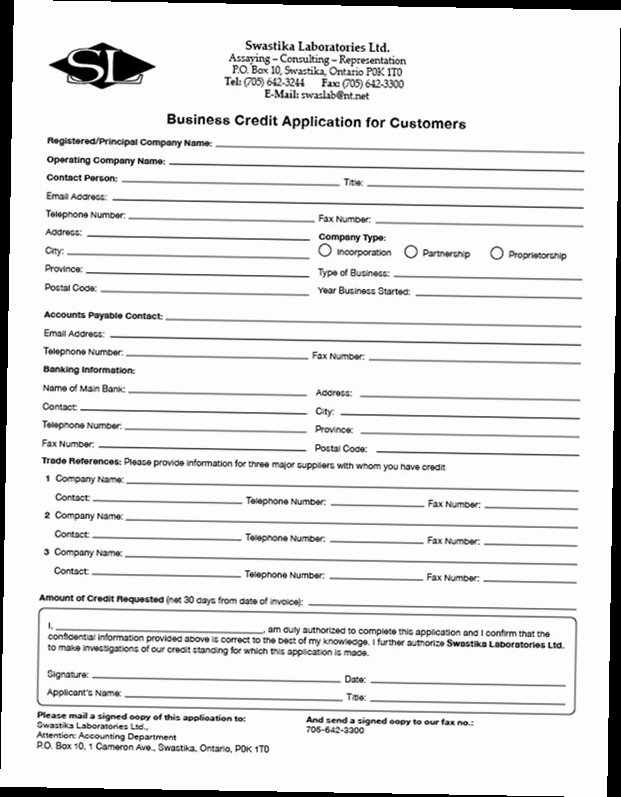 Credit Application form Pdf Elegant Business Credit Application form Pdf