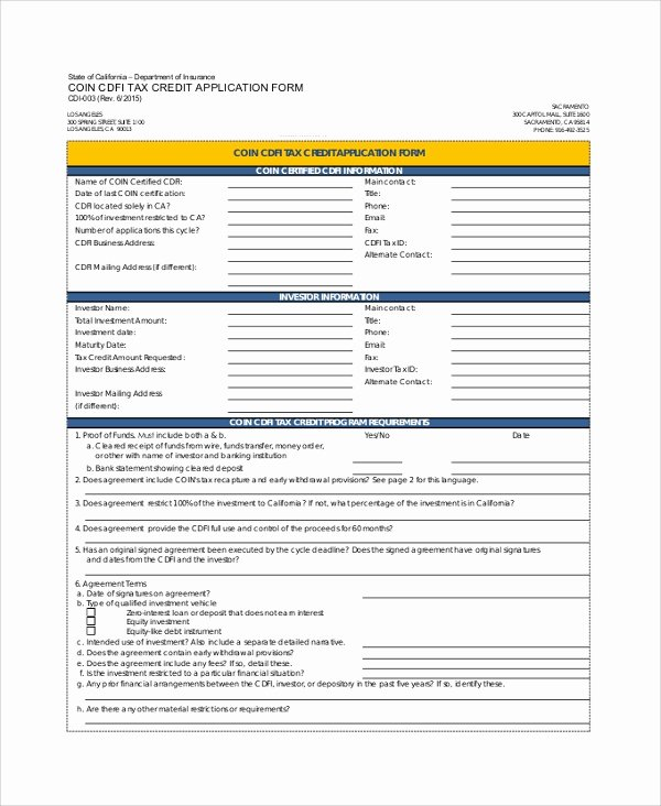 Credit Application form Pdf New Sample Credit Application form 8 Documents In Pdf Word