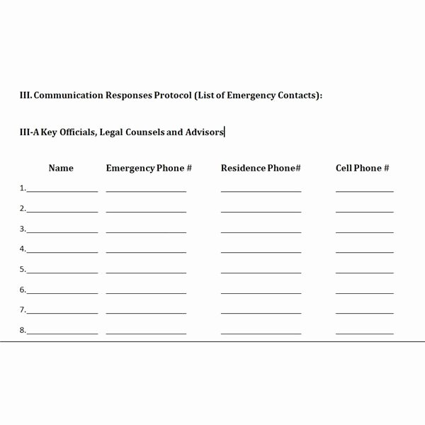 Crisis Communication Plan Template Awesome Free Downloadable Template A Plan for Crisis Management