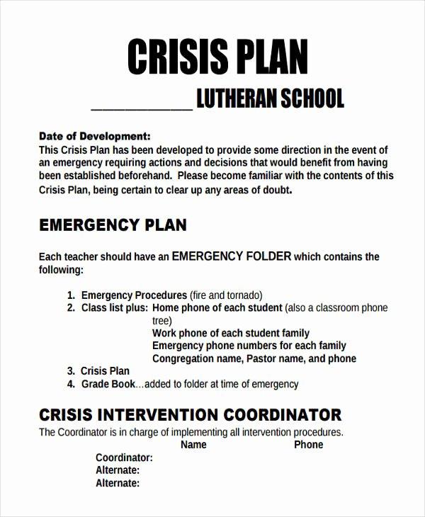 Crisis Communication Plan Template Elegant 11 Crisis Plan Templates Sample Word Google Docs