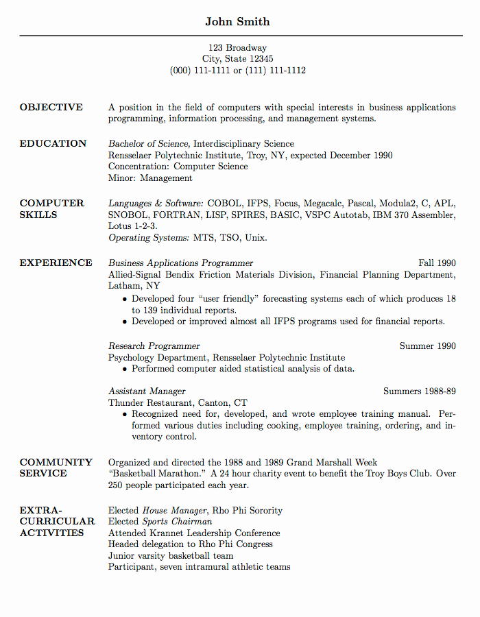 Curriculum Vitae Template Word Fresh Latex Templates Curricula Vitae Résumés