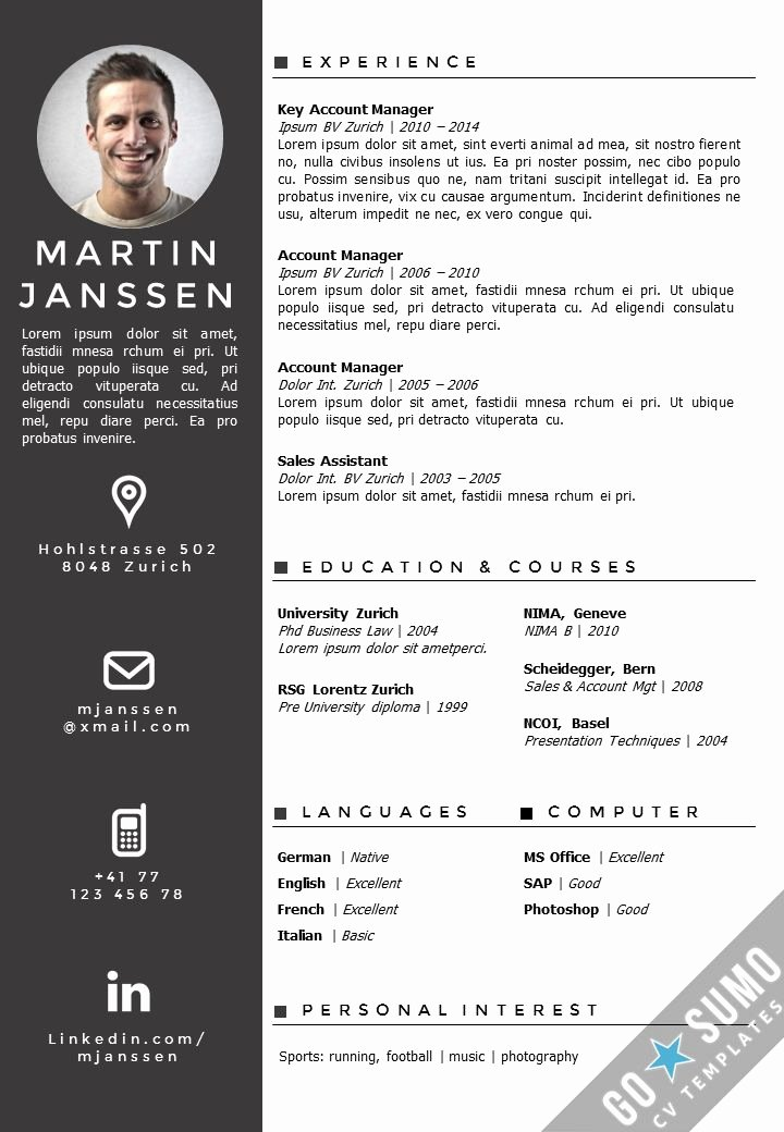 Curriculum Vitae Template Word Lovely Best 25 Creative Cv Template Ideas On Pinterest