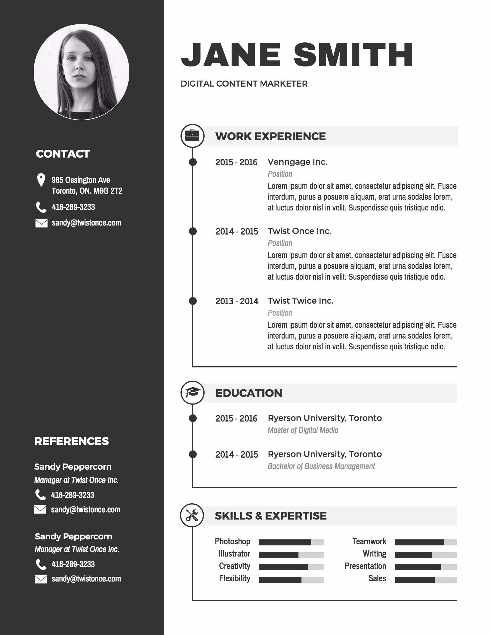 Curriculum Vitae Template Word Lovely Infographic Resume Template Venngage