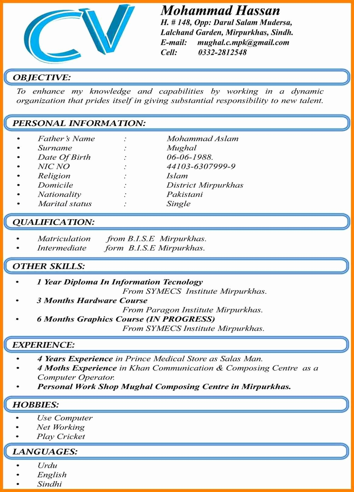 Curriculum Vitae Template Word Luxury 8 Best Cv format Word Document Dialysis Nurse Best Cv