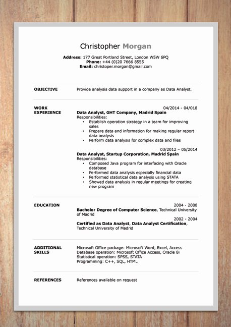 Curriculum Vitae Template Word Luxury Cv Resume Templates Examples Doc Word