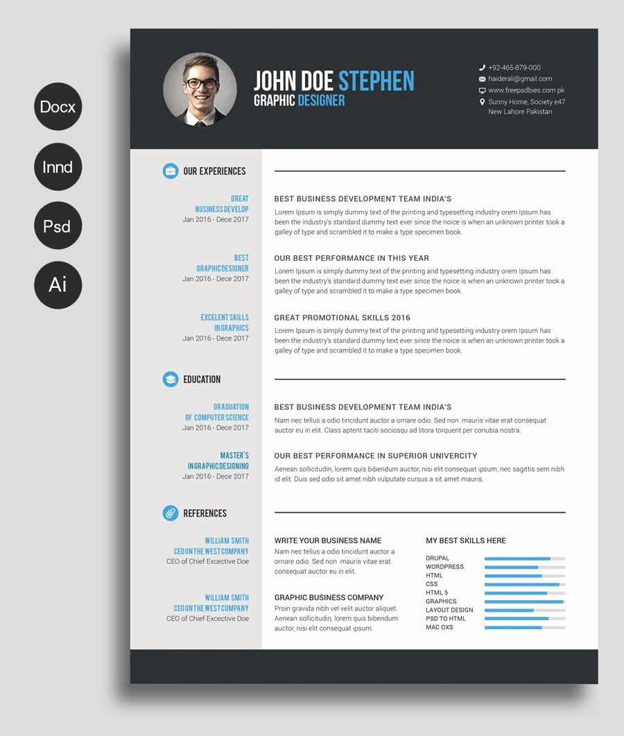 Curriculum Vitae Template Word Luxury Free Ms Word Resume and Cv Template