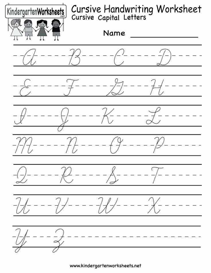 Cursive Handwriting Practice Pdf Elegant Kindergarten Cursive Handwriting Worksheet Printable