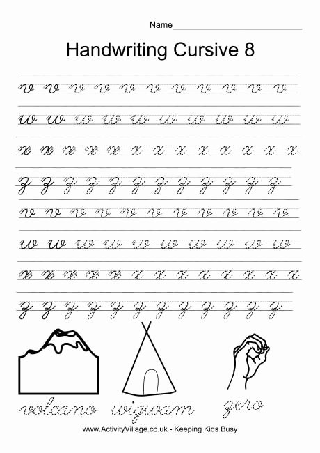Cursive Handwriting Practice Pdf Lovely Handwriting Practice Cursive 8