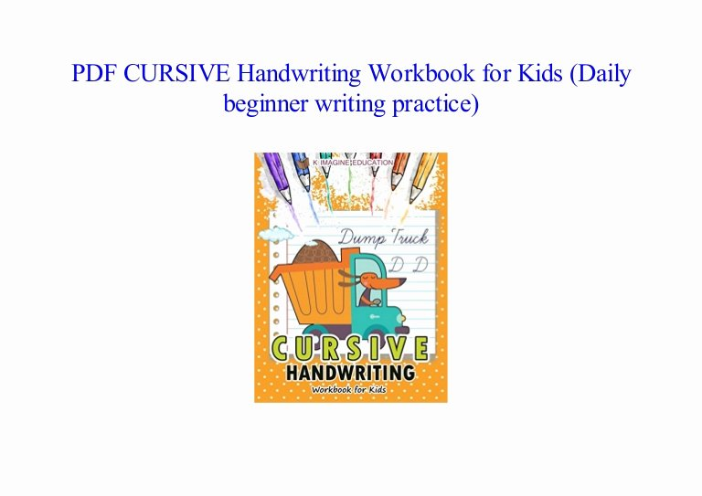 Cursive Handwriting Practice Pdf New Pdf Cursive Handwriting Workbook for Kids Daily Beginner