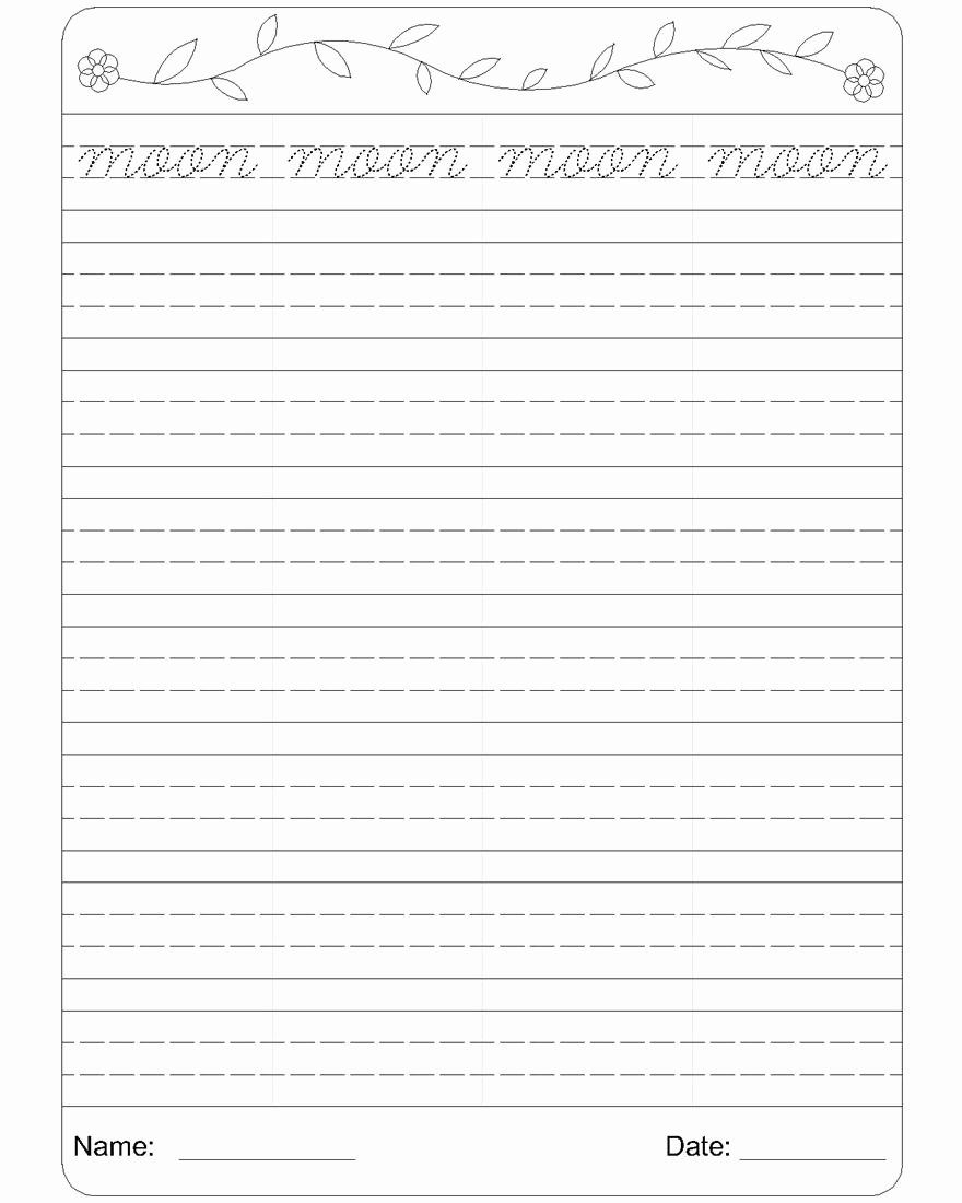 Cursive Handwriting Practice Pdf Unique English Worksheets for Kindergarten Part 2 Worksheet