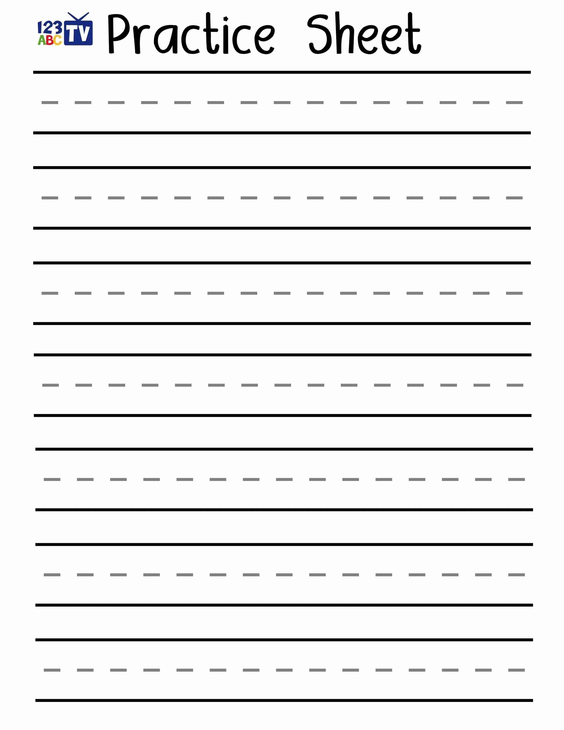 Cursive Writing Practice Pdf Awesome Fresh English Handwriting Practice Pdf