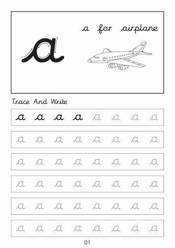 Cursive Writing Practice Pdf Awesome Set Of Cursive Small Letters A A to Z Z Dot to Dot