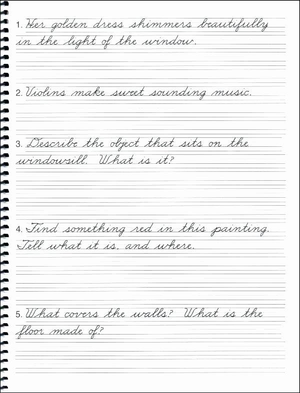 Cursive Writing Practice Pdf Fresh 3rd Grade Cursive Handwriting Worksheets