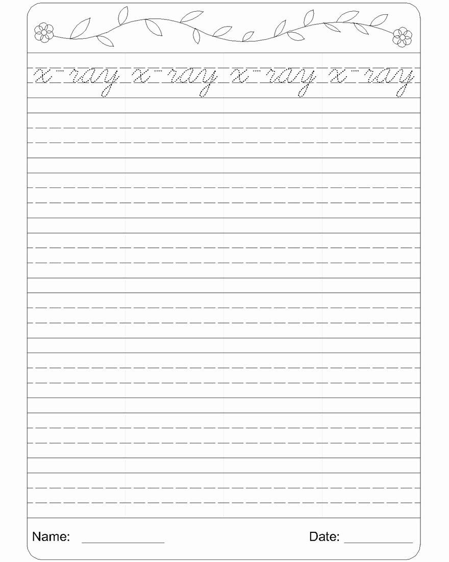 Cursive Writing Practice Pdf Fresh Cursive Writing Worksheet 24