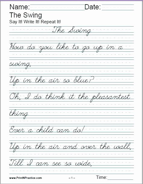 Cursive Writing Practice Pdf Lovely Practicing Cursive – Naturyub