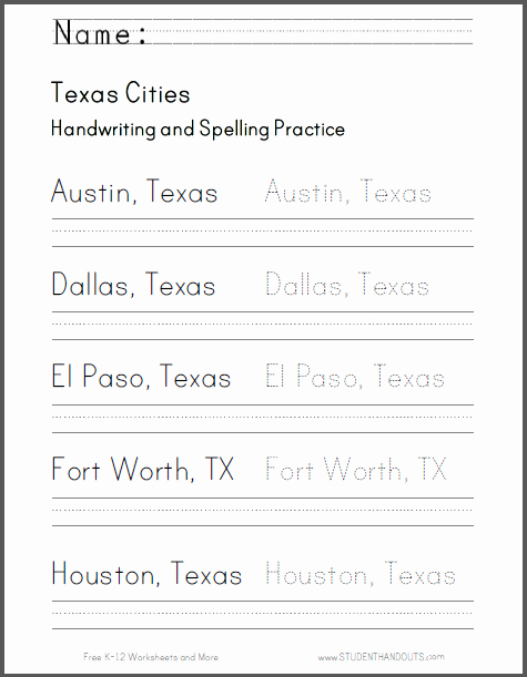 Cursive Writing Practice Pdf New Texas Handwriting Practice Worksheets Free to Print Pdf