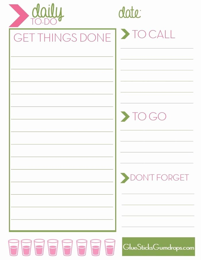 Daily to Do List Template Elegant Free Printable Daily to Do List Mine