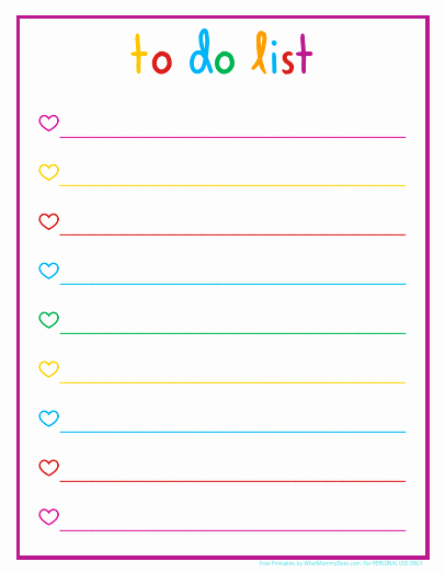 Daily to Do List Template Fresh Colorful Printable Daily Checklist for Keeping Up with Stuff