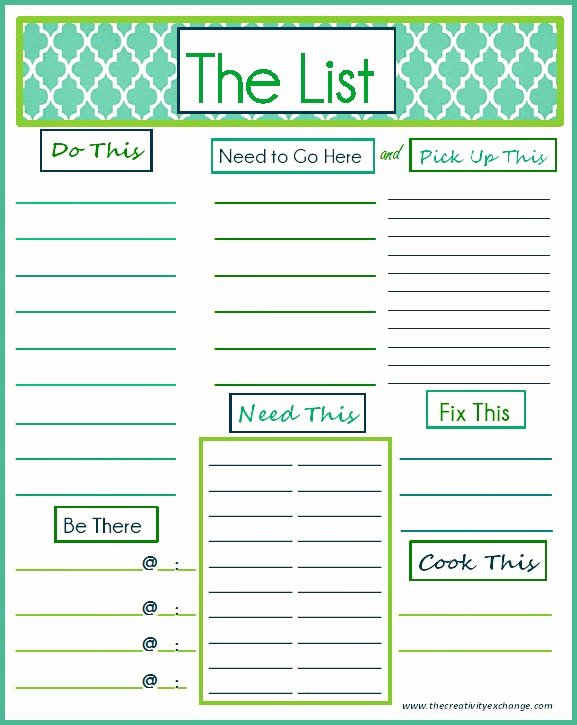 "Daily to Do List Template Fresh Free Printable ""to Do"" List"