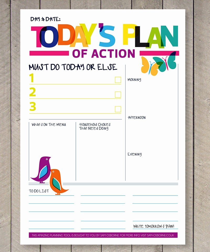 Daily to Do List Template Lovely Printable Planner Daily to Do List Family organiser Rainbow