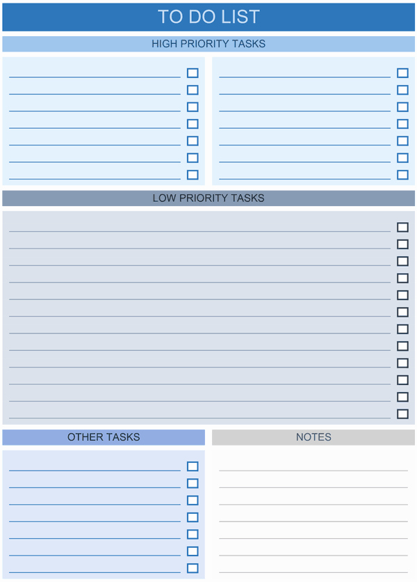 Daily to Do List Template Lovely to Do List Templates for Excel