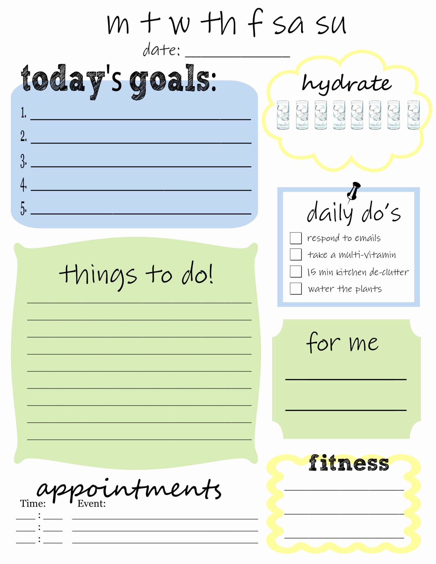 Daily to Do List Template Unique Free Printable Daily to Do List that S What Che Said