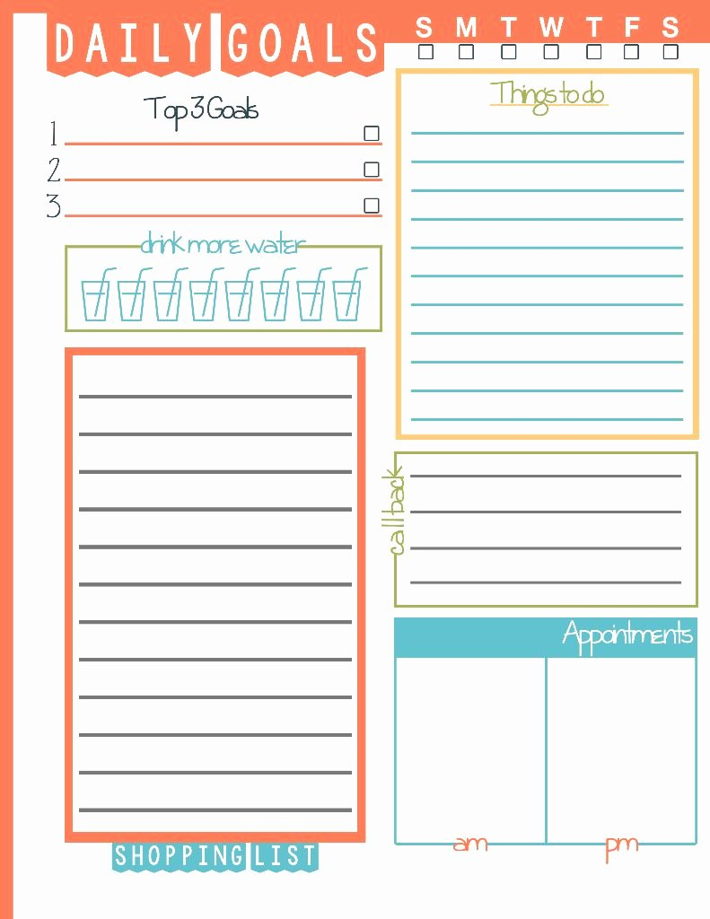 Daily to Do List Templates Best Of Daily Goals Plan Your Life Printable Domestic Mommyhood