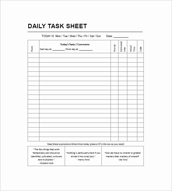 Daily to Do List Templates Best Of Daily Work to Do List Template