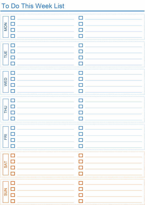 Daily to Do List Templates Elegant Daily to Do List Templates for Excel