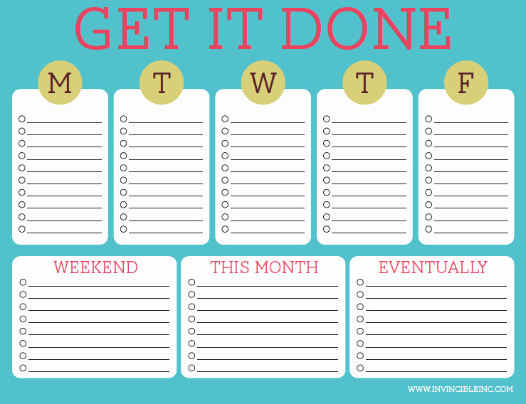 Daily to Do List Templates New organization and Time Management Part 2 Make A to Do List