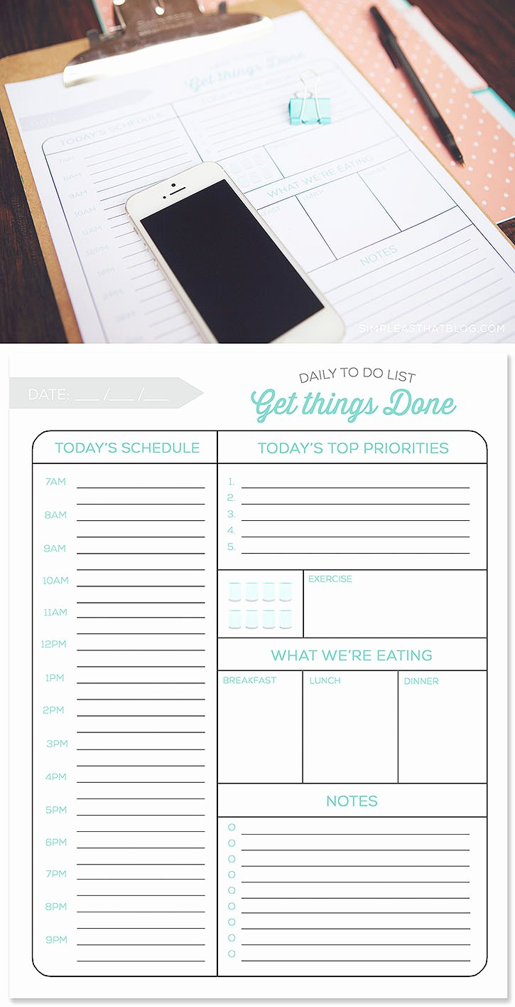 Daily to Do List Templates New Printable Daily to Do List and Tips for A More Productive Day