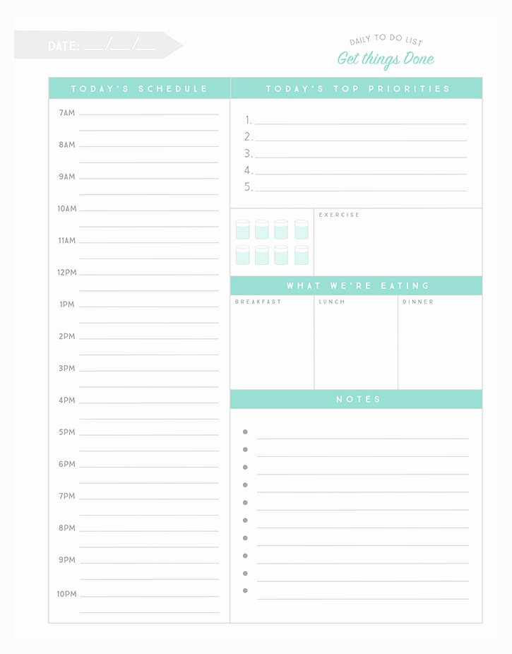 Daily to Do List Templates New Simple as that Daily to Do List Simple as that