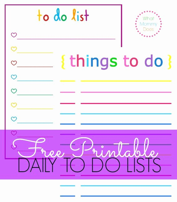 Daily to Do List Templates Unique Colorful Printable Daily Checklist for Keeping Up with Stuff