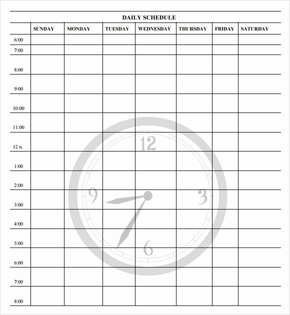 Daily Work Schedule Template Awesome Free 11 Schedule Samples In Word Excel