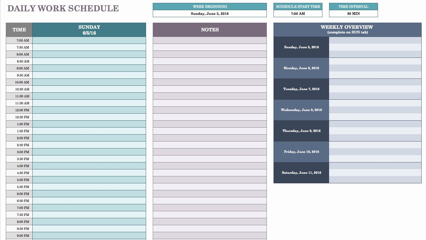 Daily Work Schedule Template Best Of Daily Work Schedule Template