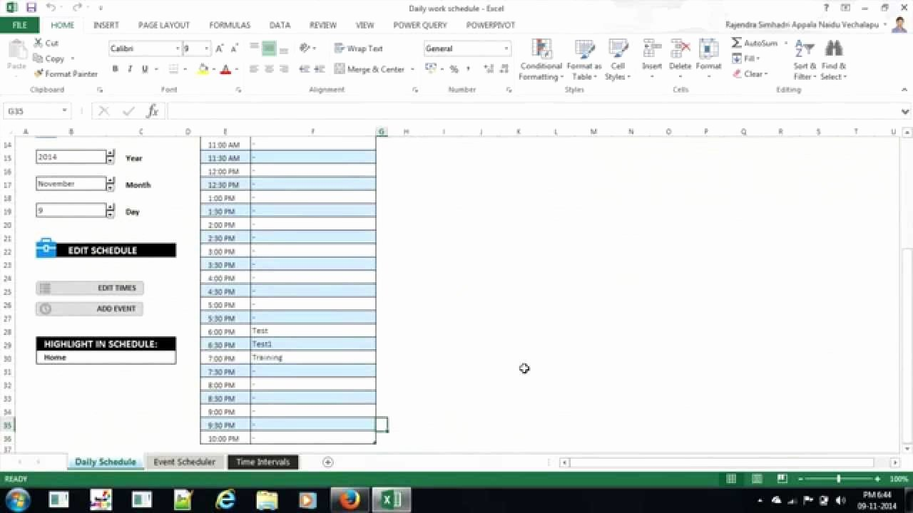 Daily Work Schedule Template Best Of Excel Daily Work Schedule Template
