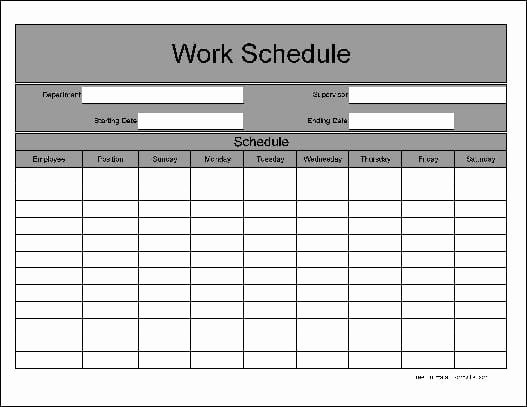 Daily Work Schedule Template Inspirational 9 Daily Work Schedule Templates Excel Templates