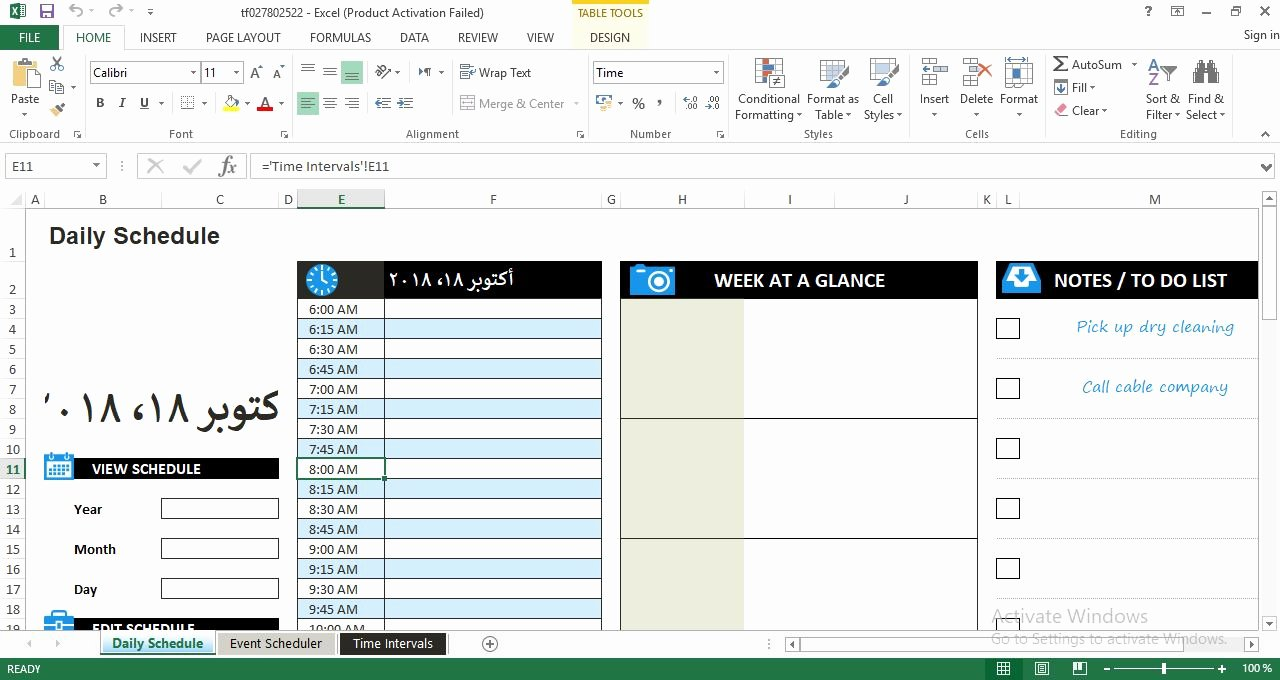 Daily Work Schedule Template Inspirational Daily Work Schedule Excel Template Engineering Management