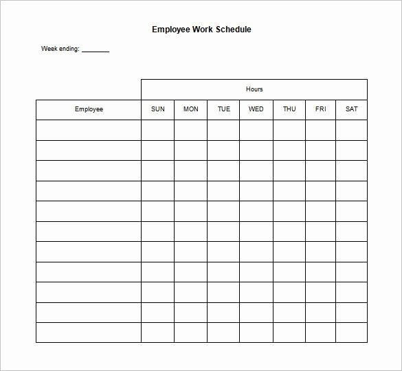 Daily Work Schedule Template New Daily Work Schedule Template – 12 Free Word Excel Pdf