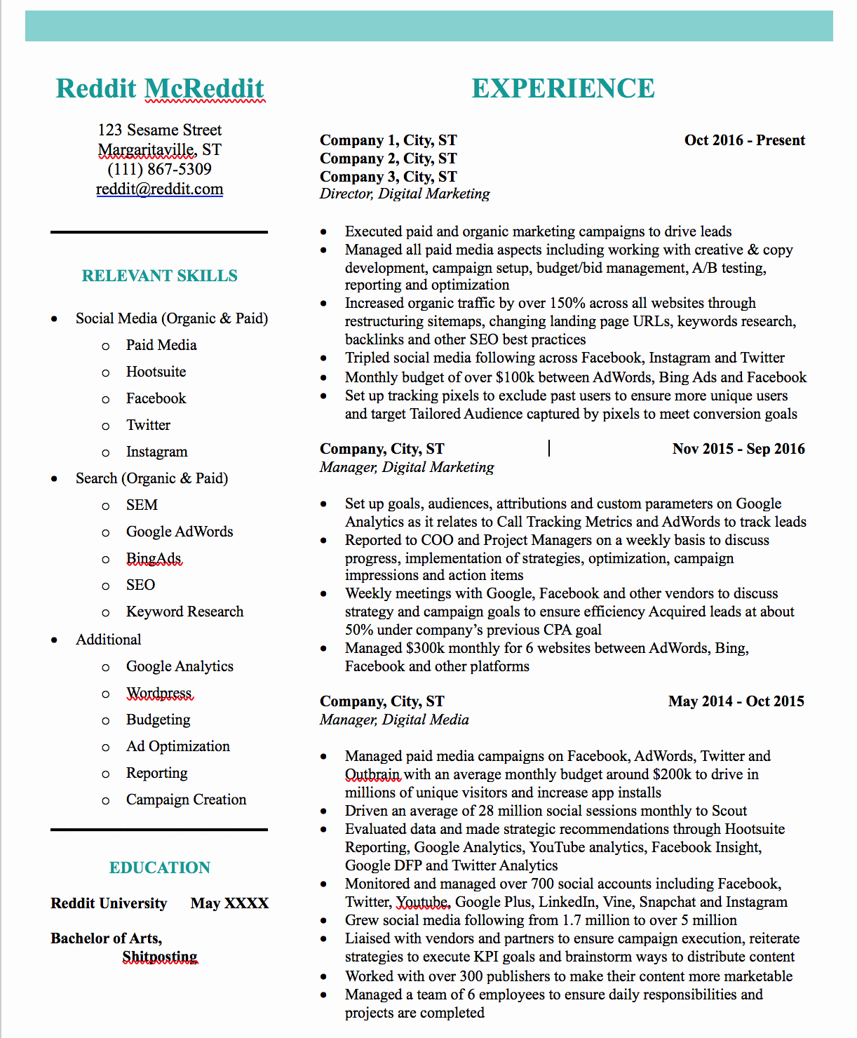 Digital Marketing Resume Sample Beautiful Digital Marketing Resume Am I Doing too Much with the