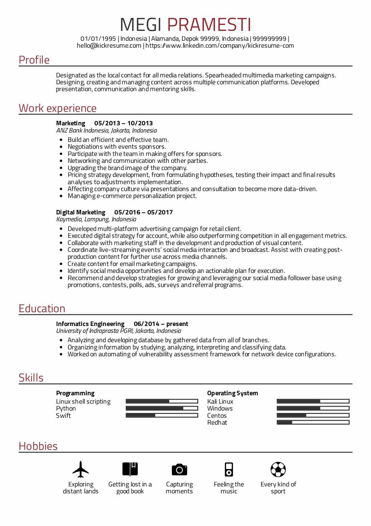 Digital Marketing Resume Sample Inspirational Resume Examples by Real People Digital Marketing Cv