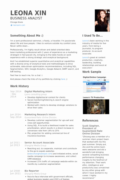 Digital Marketing Resume Sample Unique Digital Resume Template
