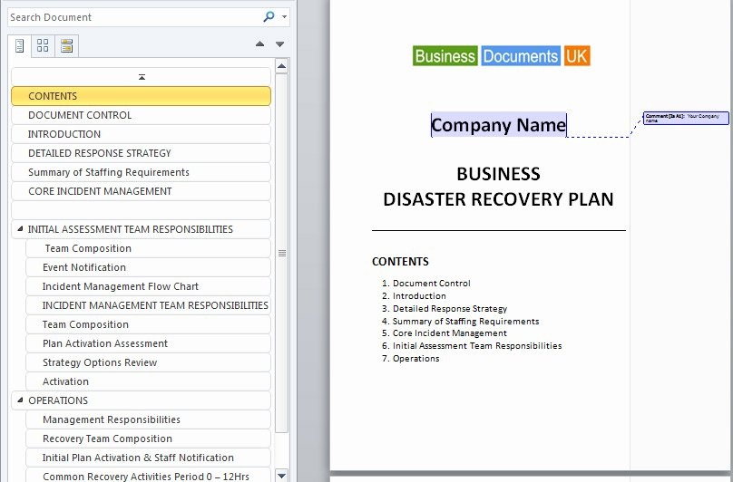 Disaster Recovery Plan Example Best Of Purevolume™
