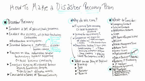 Disaster Recovery Plan Example New How to Make A Disaster Recovery Plan Projectmanager