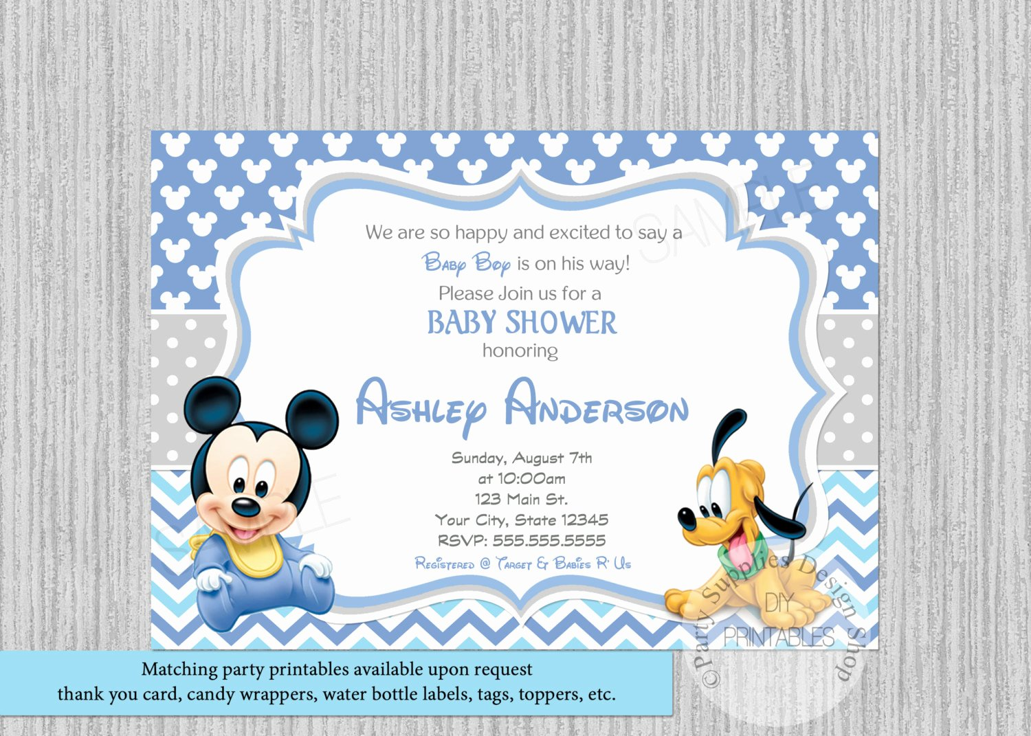 Disney Baby Shower Invitations Beautiful Disney Baby Mickey Baby Shower Invitations Mickey Baby Shower